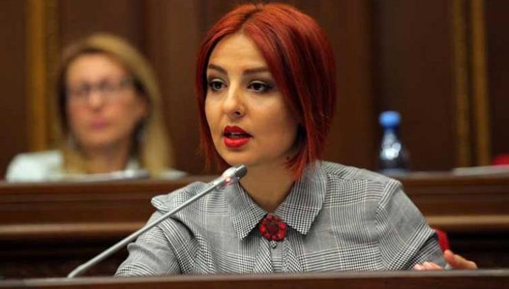 Ի՞նչ պաստառով Անի Սամսոնյանը  մտավ ԱԺ նիստերի դահլիճ