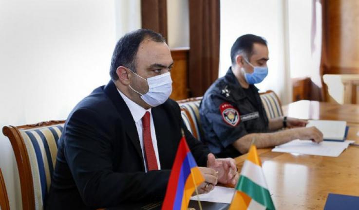 Ոստիկանության պետն ընդունել է Հայաստանում Հնդկաստանի դեսպանին