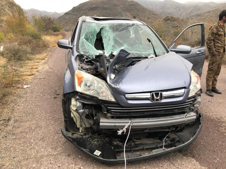ԱԹՍ-ի արկն ընկել է գնդերեց Դավիթ սարկավագի մեքենայի վրա, բայց չի պայթել