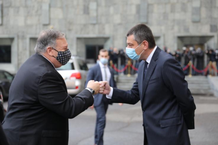 Պոմպեոն հանդիպել է Վրաստանի վարչապետին |aliq.ge|