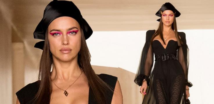 Միլանի նորաձևության շաբաթ․ Իրինա Շեյքը ներկայացրել է Versace բրենդի զգեստը (լուսանկարներ)