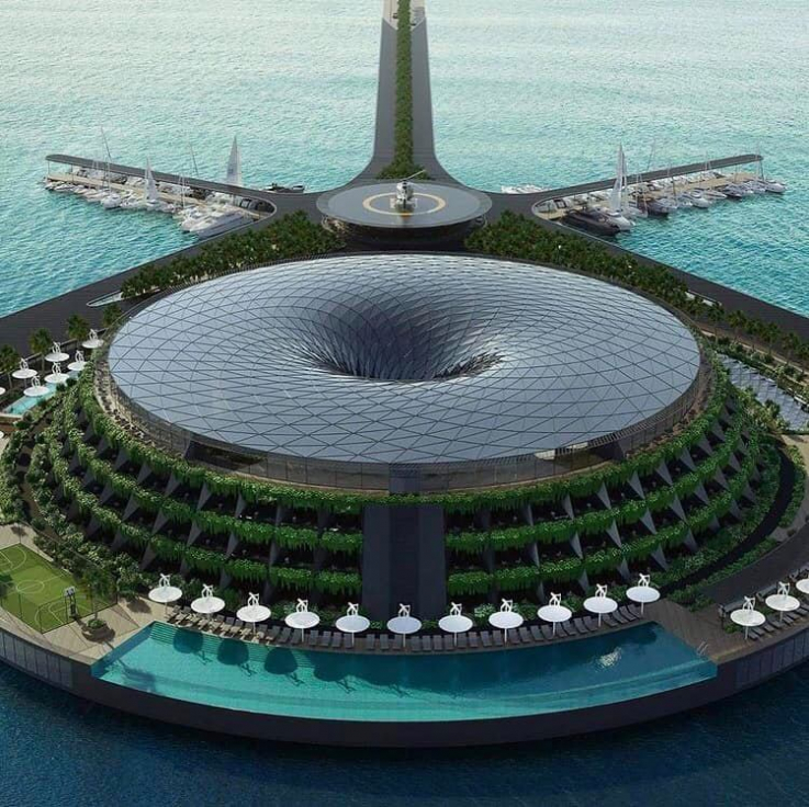 Կատարում կբացվի առաջին էկո-լողացող շքեղ հյուրանոցը