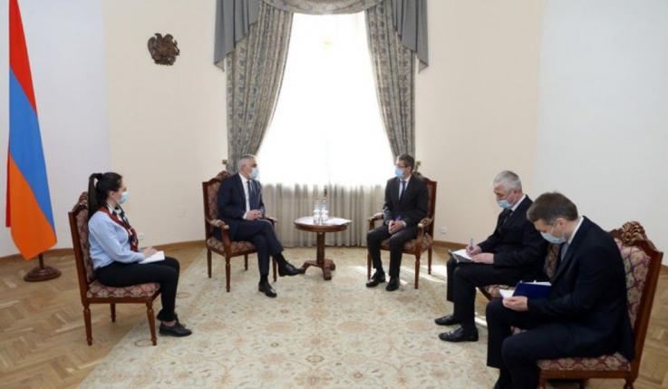 Փոխվարչապետ Մհեր Գրիգորյանն ընդունել է Ղազախստանի նորանշանակ դեսպանին