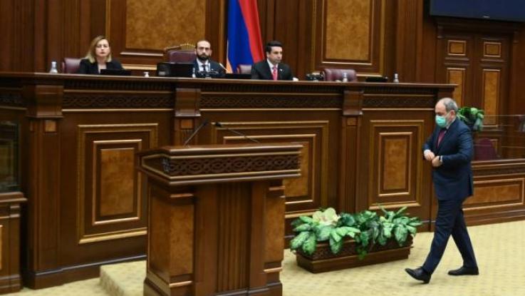 Արտահերթ ընտրությունների անցկացման նպատակով ԱԺ-ն Նիկոլ Փաշինյանին չընտրեց վարչապետի պաշտոնում
