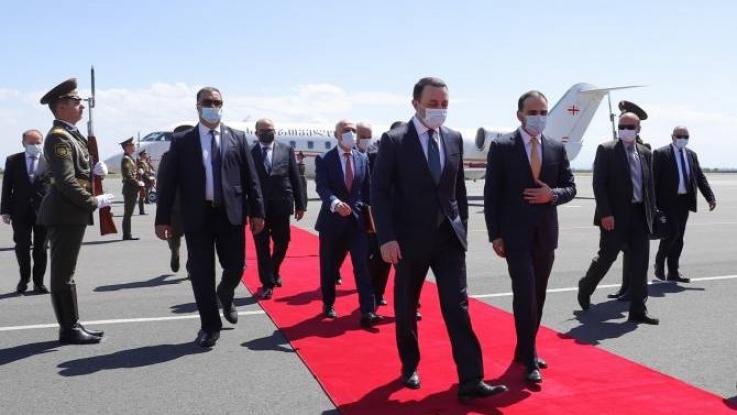 Վրաստանի վարչապետ Իրակլի Ղարիբաշվիլին ժամանեց Հայաստան
