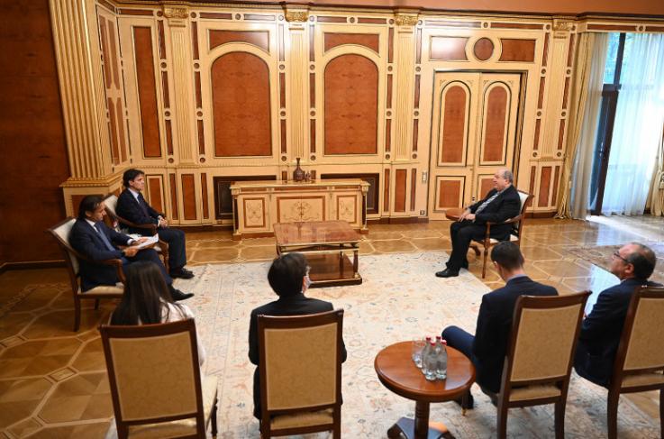 Արմեն Սարգսյանն ընդունել է ԵԱՀԿ ԺՀՄԻԳ տնօրենին և ԵԱՀԿ ԽՎ գլխավոր քարտուղարին