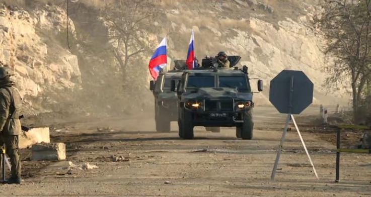 Ռուս խաղաղապահներն Ադրբեջանի զինված ուժերի վեց շարասյուն են ուղեկցել