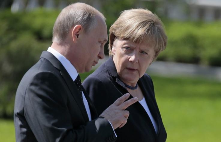 Մերկելը Պուտինի հետ քննարկել է Մինսկի համաձայնագրերը և «Հյուսիսային հոսք 2» -ը