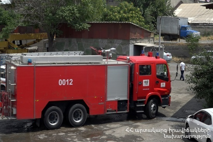 Երևանում տնակ է այրվել