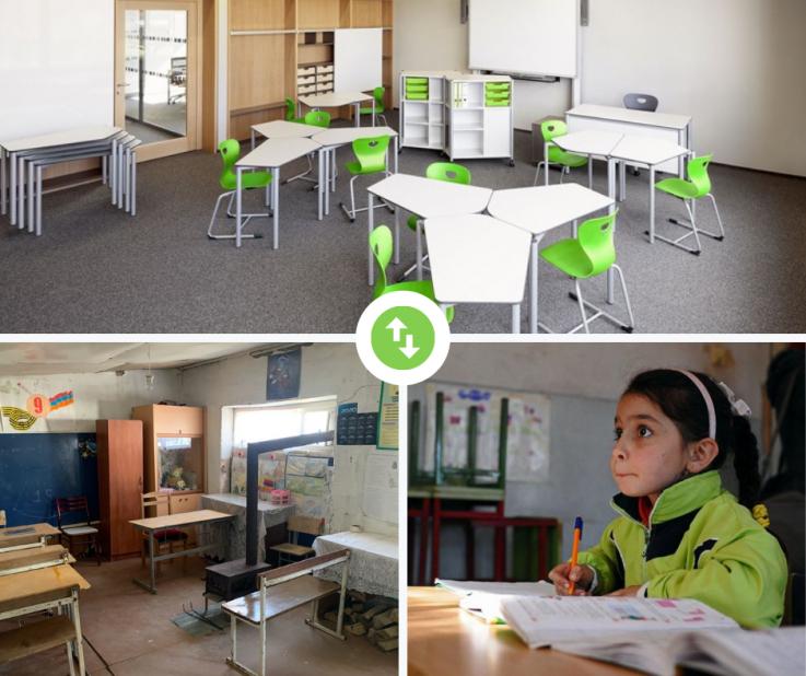Արցախի 10 դպրոցներում մեկնարկել են դասասենյակների նորոգման, գույքով և տեխնիկայով ապահովման աշխատանքները