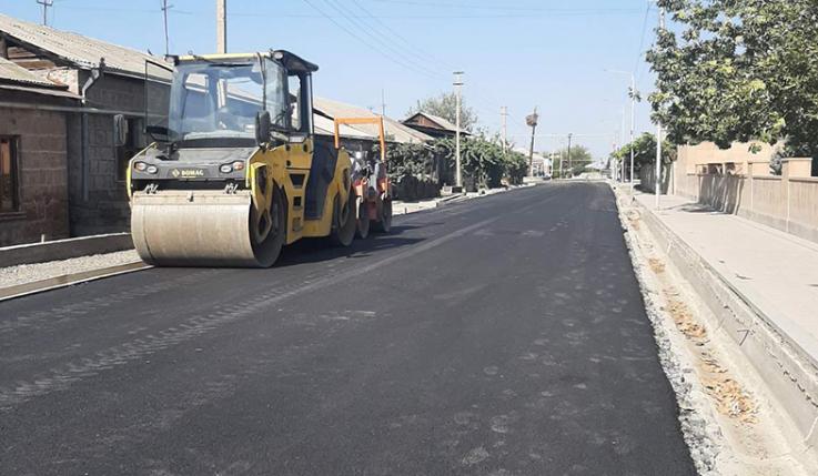 Սուբվենցիոն ծրագրով հիմնանորոգվում է Նորաբաց համայնքի Երևանյան փողոցը