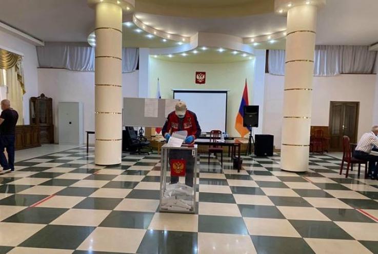 Գյումրիում ՌԴ գլխավոր հյուպատոսության տարածքում ընթանում են Դաշնային ժողովի Պետդումայի ընտրությունները