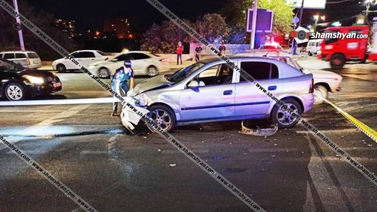 Հալաբյան-Կիևյան փողոցների խաչմերուկում բախվել են Lada Prioraև Opel Astra մակնիշի ավտոմեքենաները. կան վիրավորներ