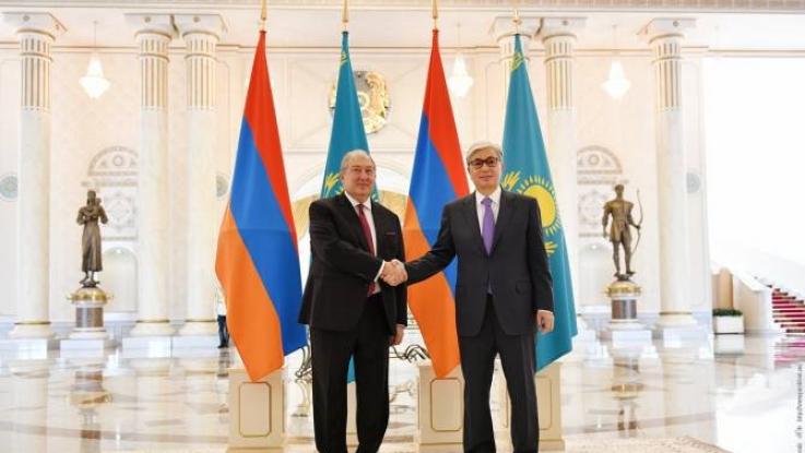 Նախագահ Արմեն Սարգսյանին շնորհավորել է Ղազախստանի նախագահ Կասիմ- Ժոմարտ Տոկաևը