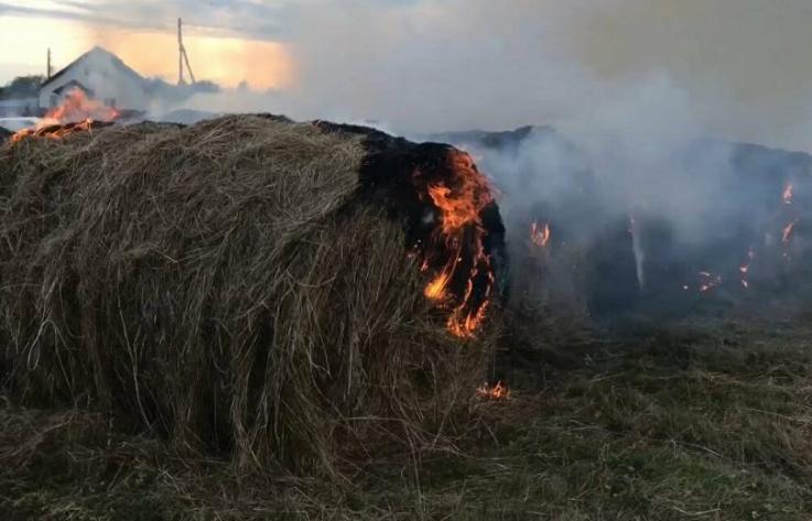 Պռոշյան գյուղում անասնակեր է այրվել
