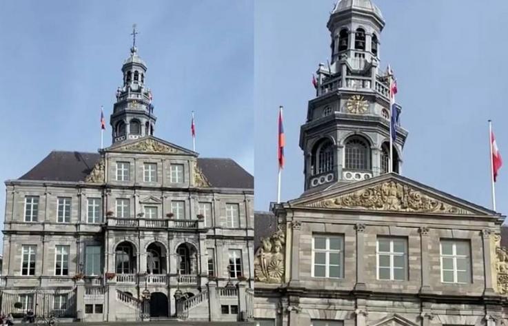 Մաաստրիխտի քաղաքապետարանի շենքի վրա ծածանվում է Հայաստանի դրոշը