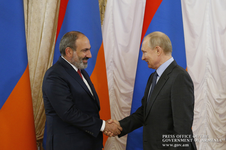 Կրեմլում կայացել է ՀՀ վարչապետի և ՌԴ նախագահի հանդիպումը