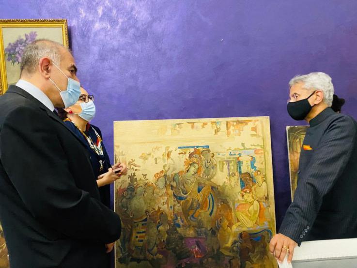 Հնդկաստանի Արտաքին գործերի նախարարն այցելել է Հայաստանի ազգային պատկերասրահ